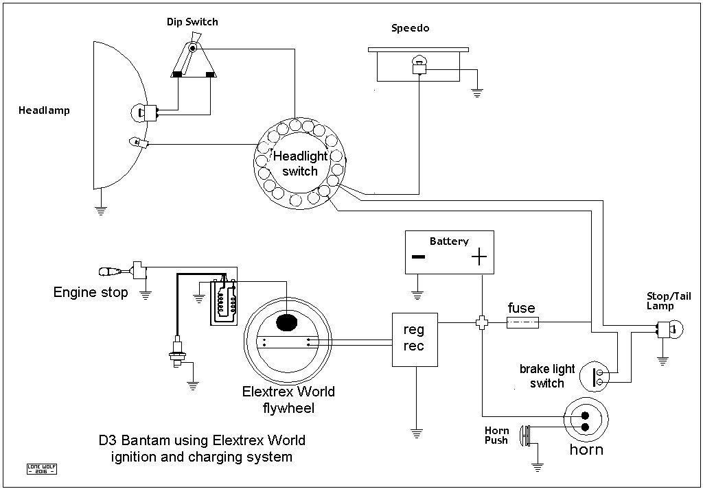 D3 Bantam Electrex World wiring loom for bones cdi d10 d14 and b175 models forum bsa electrex world wiring diagram at webbmarketing.co